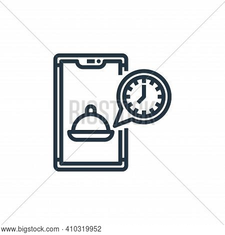 time icon isolated on white background from food delivery collection. time icon thin line outline li