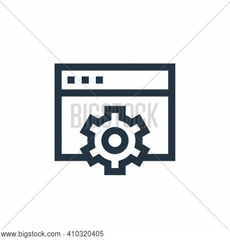 settings icon isolated on white background from marketing and growth collection. settings icon thin