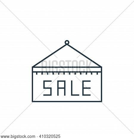 sale tag icon isolated on white background from online shopping collection. sale tag icon thin line