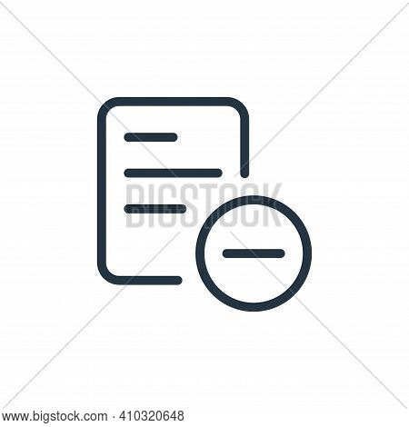 remove icon isolated on white background from work office supply collection. remove icon thin line o
