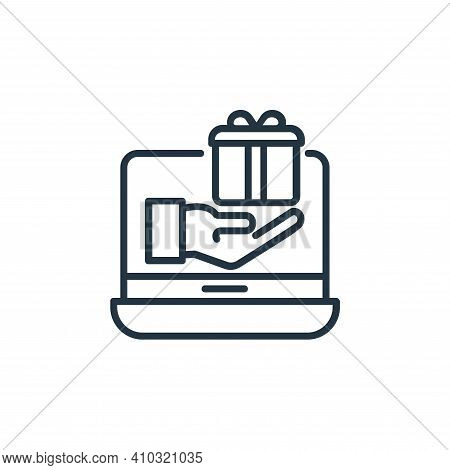 online donation icon isolated on white background from shopping line icons collection. online donati