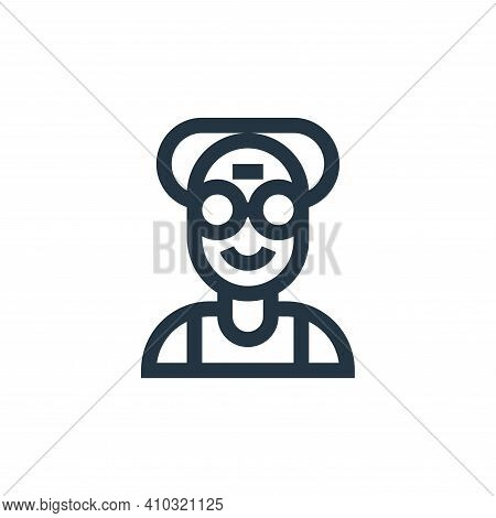 old icon isolated on white background from people collection. old icon thin line outline linear old