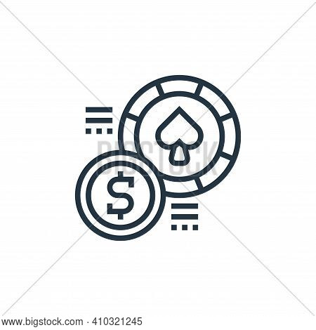 money exchange icon isolated on white background from casino collection. money exchange icon thin li
