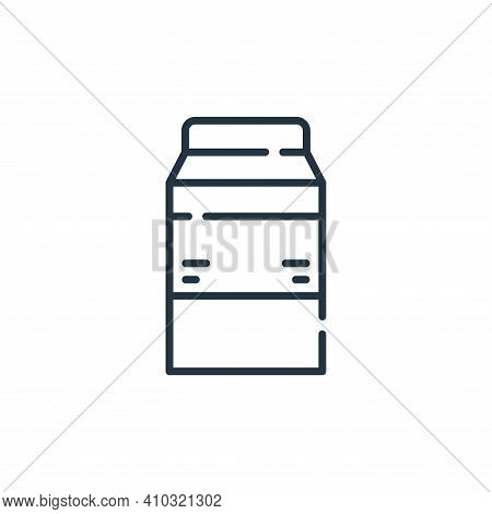 milk icon isolated on white background from allergies collection. milk icon thin line outline linear