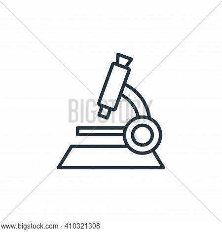 microscope icon isolated on white background from coronavirus disease collection. microscope icon th