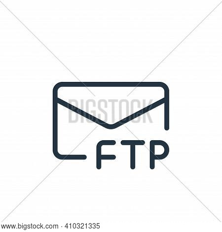 message icon isolated on white background from data transfer collection. message icon thin line outl