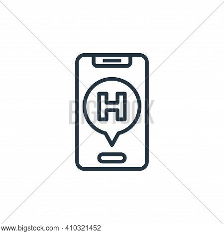 medical app icon isolated on white background from hospital collection. medical app icon thin line o