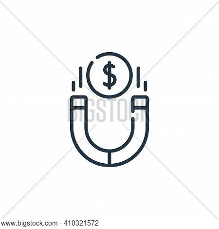 magnet icon isolated on white background from life skills collection. magnet icon thin line outline