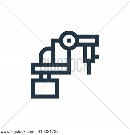laser icon isolated on white background from manufacturing collection. laser icon thin line outline