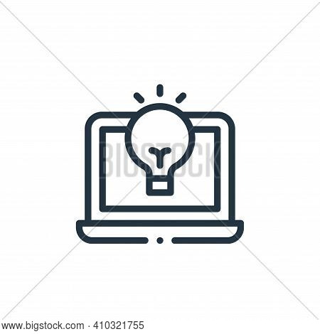 laptop icon isolated on white background from design thinking collection. laptop icon thin line outl