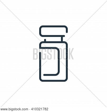 jar icon isolated on white background from virus transmission collection. jar icon thin line outline