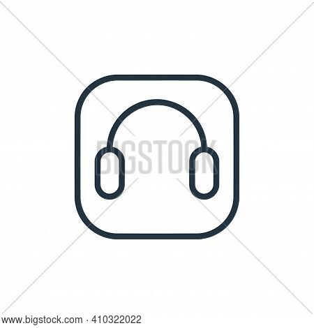 headphones icon isolated on white background from hardware and gadgets collection. headphones icon t
