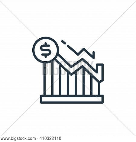 graph icon isolated on white background from money and currency collection. graph icon thin line out
