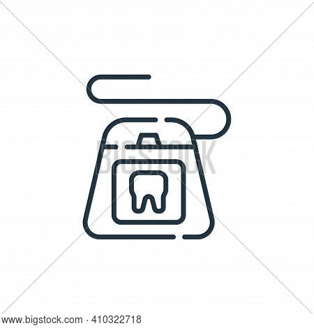 dental floss icon isolated on white background from cleaning collection. dental floss icon thin line
