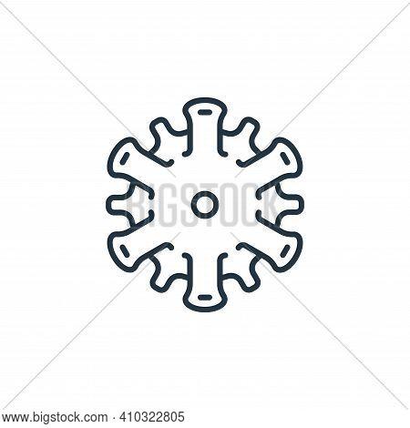 coronavirus icon isolated on white background from coronavirus disease collection. coronavirus icon