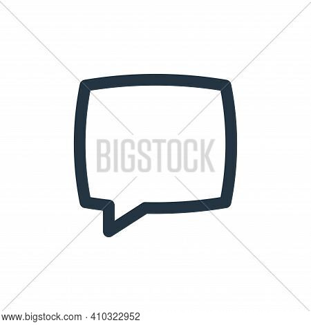 chat icon isolated on white background from basic ui collection. chat icon thin line outline linear