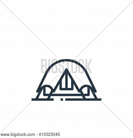 camping icon isolated on white background from travel collection. camping icon thin line outline lin