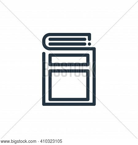 book icon isolated on white background from ricon collection. book icon thin line outline linear boo