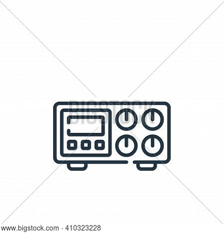 amplifier icon isolated on white background from music collection. amplifier icon thin line outline