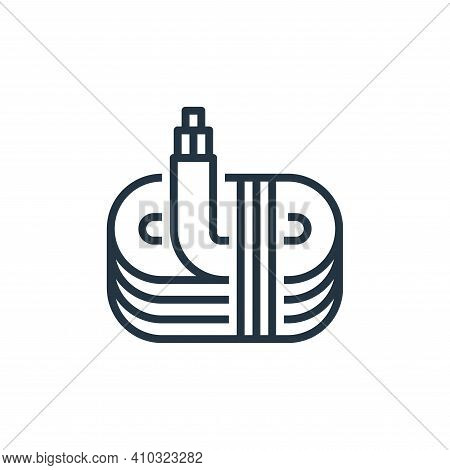 wire icon isolated on white background from recycling collection. wire icon thin line outline linear