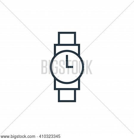 watch icon isolated on white background from school collection. watch icon thin line outline linear