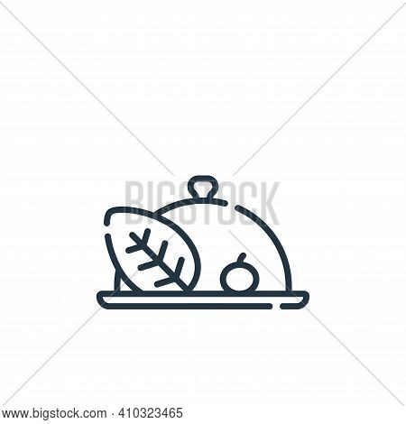 vegan icon isolated on white background from vegan food collection. vegan icon thin line outline lin