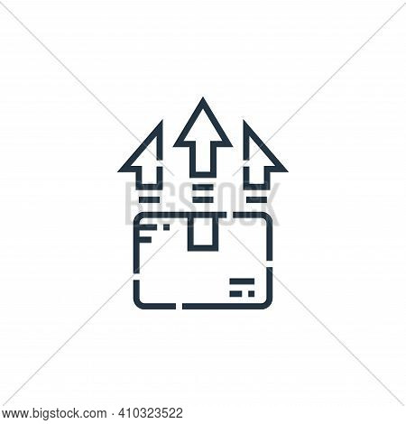upload icon isolated on white background from delivery collection. upload icon thin line outline lin