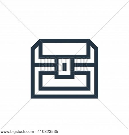 treasure chest icon isolated on white background from history collection. treasure chest icon thin l