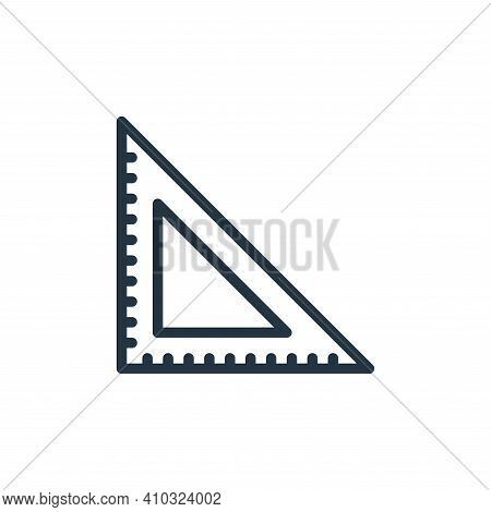 ruler icon isolated on white background from school collection. ruler icon thin line outline linear