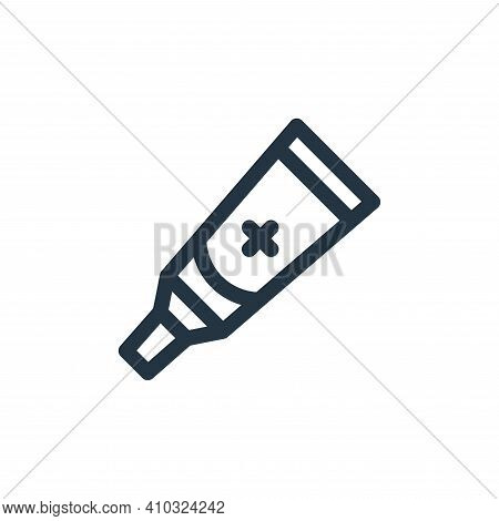 ointment icon isolated on white background from medicine collection. ointment icon thin line outline