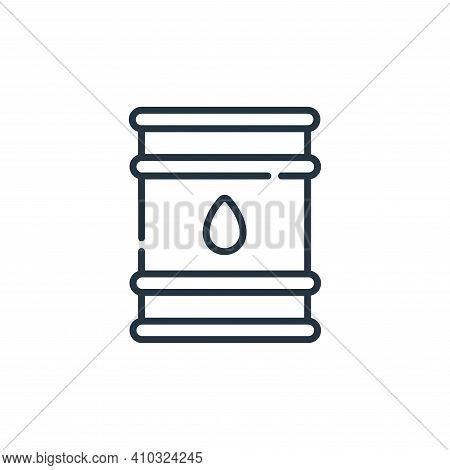 oil barrel icon isolated on white background from desert collection. oil barrel icon thin line outli