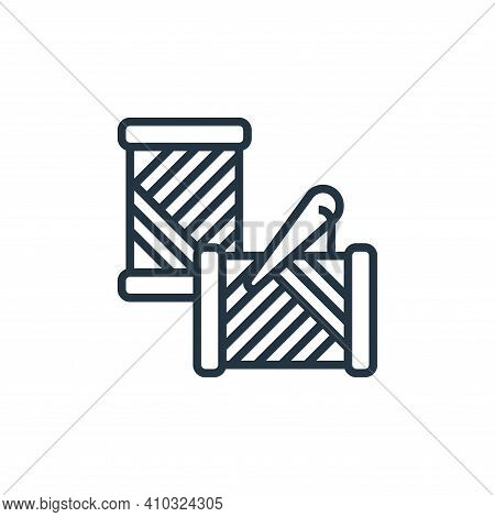 needle icon isolated on white background from sewing equipment collection. needle icon thin line out