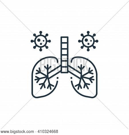 lungs icon isolated on white background from coronavirus collection. lungs icon thin line outline li