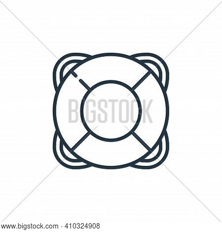 lifesaver icon isolated on white background from management collection. lifesaver icon thin line out