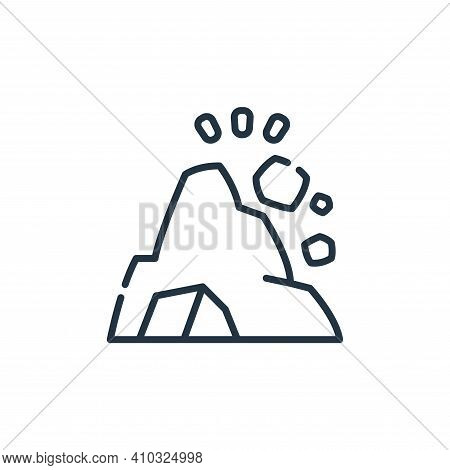 landslide icon isolated on white background from climate change collection. landslide icon thin line