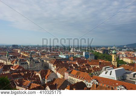 Cityscape Of Graz With The Rathaus (town Hall) And Historic Buildings, In Graz, Styria Region, Austr