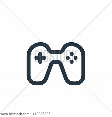 games icon isolated on white background from user interface collection. games icon thin line outline