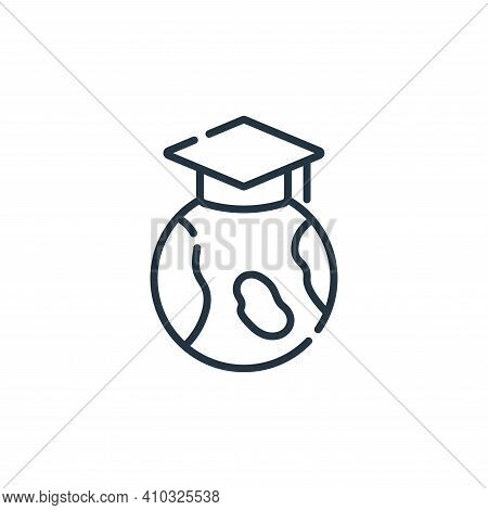 education icon isolated on white background from academy collection. education icon thin line outlin