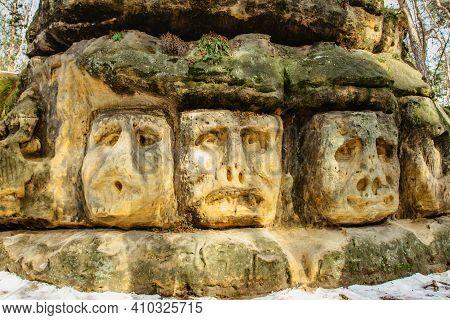 Harfenice Natural Formations Are Large Sandstone Blocks Of Sculptures Carved Into Sandstones.monumen