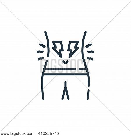 cramps icon isolated on white background from allergies collection. cramps icon thin line outline li