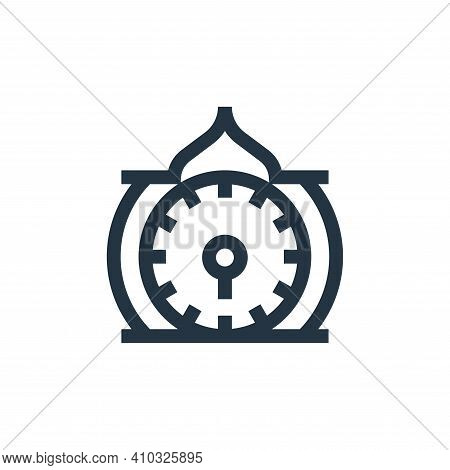 clock icon isolated on white background from ramadan collection. clock icon thin line outline linear