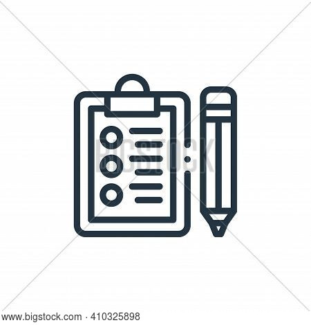 clipboard icon isolated on white background from design thinking collection. clipboard icon thin lin