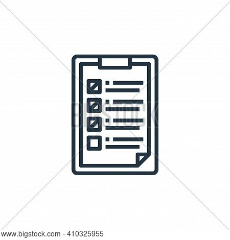 check list icon isolated on white background from work from home collection. check list icon thin li