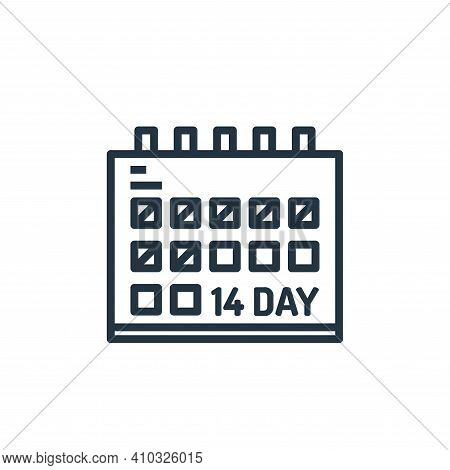 calendar icon isolated on white background from pandemic collection. calendar icon thin line outline