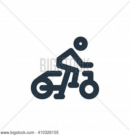 bicycle icon isolated on white background from sport collection. bicycle icon thin line outline line
