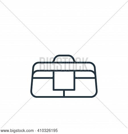 bag icon isolated on white background from carpentry collection. bag icon thin line outline linear b