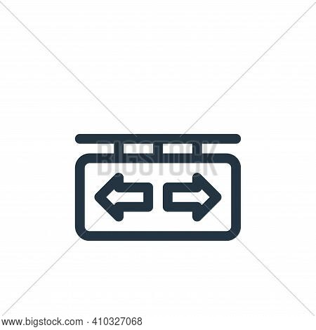 traffic sign icon isolated on white background from auto racing collection. traffic sign icon thin l
