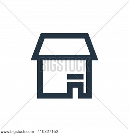 store icon isolated on white background from user interface collection. store icon thin line outline