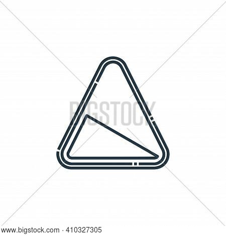 Slope icon isolated on white background from signaling collection. Slope icon thin line outline line