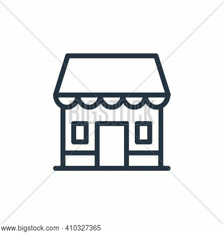 shopping store icon isolated on white background from banking and finance flat icons collection. sho